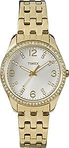 Timex Women's T2P388 Crystal Gold-Tone Stainless Steel Bracelet Watch