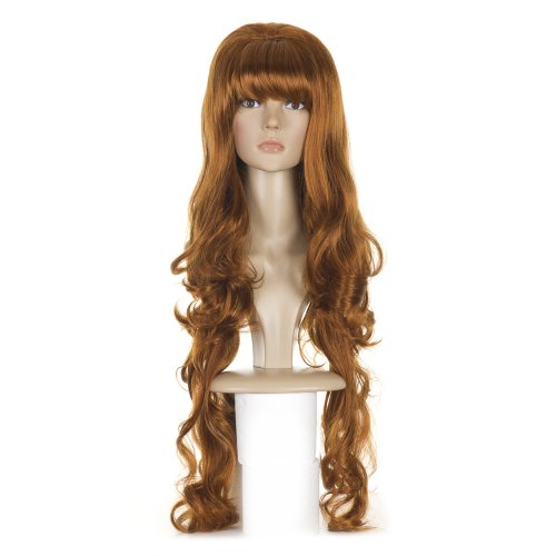 Ginger Copper Long Curls Bouffant Princess Wig | 60's 70's Bouffant Wigs | Lolita Fashion Hairstyle Wigs