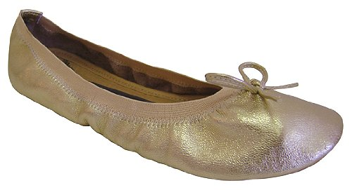 Penny Loves Kenny Cookie Foldable Ballet Slippers Gold