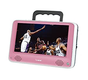 iView iVIEW-700PTV Portable 7-Inch Digital LCD TV, Pink