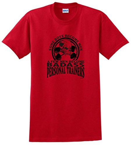 Created Equal, A Few Men Become Personal Trainers T-Shirt Medium Red