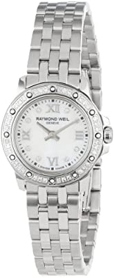 "Raymond Weil Women's 5799-STS-00995 ""Tango"" Diamond-Accented Stainless Steel Watch"