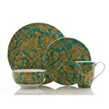222 Fifth Belorado 16-Piece Dinnerware Set, Teal