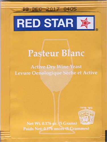 WINE YEAST 6 PACK RED STAR PASTEUR BLANC Fermentis Champagne Yeast (Fruit Champagne Soda compare prices)