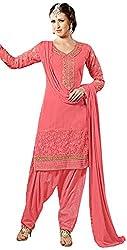 Manmauj Women's Cotton Unstitched Dress Material (MM10038DPNK, Pink)