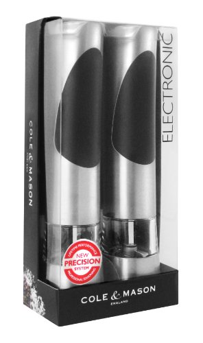 COLE & MASON Richmond Precision Electric Salt and Pepper Mill Set, Gift Box (Shaker Electronic compare prices)