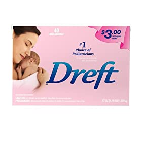 Dreft Powder Detergent, Case Pack, Four 40-Load Boxes (160-Loads)