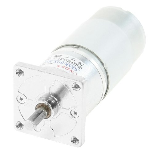 Dc 12V 50Rpm Output Speed 2 Pin 6Mm Shaft Electric Power Geared Motor