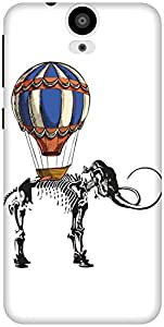 The Racoon Grip Mammoth Travels hard plastic printed back case / cover for HTC One E9 Plus