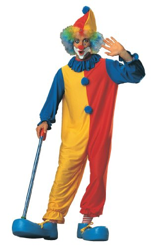 Imagen de Classic payaso traje adulto, azul, amarillo y rojo, Standard talla única hasta 44 Jacket