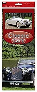 2016 Slim Month To View Spiral Bound Photo Wall Calendar - Classic Cars