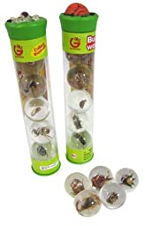 Geoworld Bug\'s World Clear Insect Marbles Pack of (5)