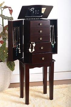 Espresso Jewelry Armoire