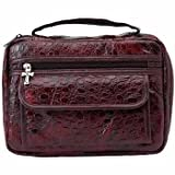 Embassy Alligator Embossed Burgundy Genuine Leather Bible Cover ~ Embassy