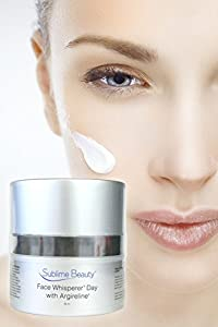 Face Whisperer® Day Cream with Argireline® for Gorgeous Skin; Relax and Reduce Wrinkles; Superior Moisturizer. *Top Anti-Aging Cream Boosts Collagen production While Reducing Wrinkles.**FREE 7 page Report about ingredients sent after purchase** Sublime