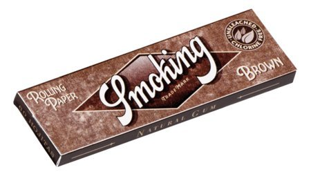 Cartine Smoking Brown Senza Cloro Corte - Scatola da 50 x 60