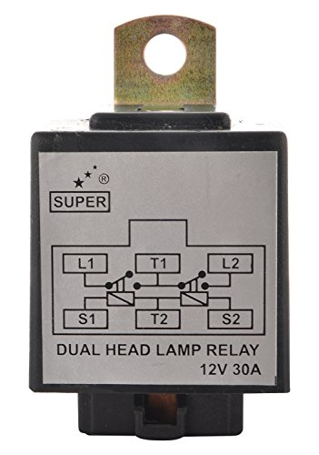 buy super 1401 head lamp wiring kit with hl relay on amazon rh paisawapas com H4 Headlight Wiring Harness philips h4 headlight bulbs wiring kit harness with relay