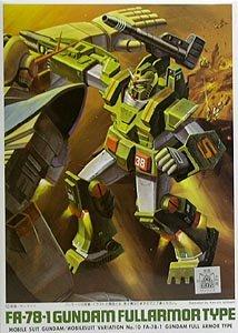 #10 FA-78-1 Fullarmor Type Gundam 1/144 Gundam MSV Bandai Model Kit