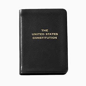 "United States Mini Constitution, Genuine Leather, 2-3/4"" X 3-3/4"""