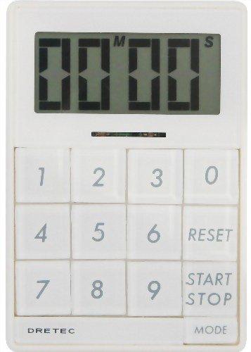 DRETEC デジタルタイマー 「キュービック」 【光とメロディで時間をお知らせ】 ホワイト T-192WT