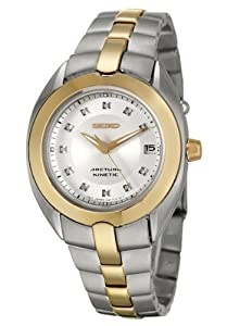 Amazon.com: Seiko Women's SKA890 Diamond Arctura Kinetic Watch