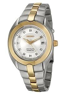 Amazon.com: Seiko Women's SKA890 Diamond Arctura Kinetic Watch