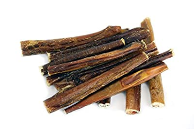 """Best 6"""" Bully Sticks Made in USA~Premium Grass-Fed, Kosher American Beef~No Antibiotcs No Growth Hormones~Grain-Free Chews for Dogs. Low-Odor Pizzles"""