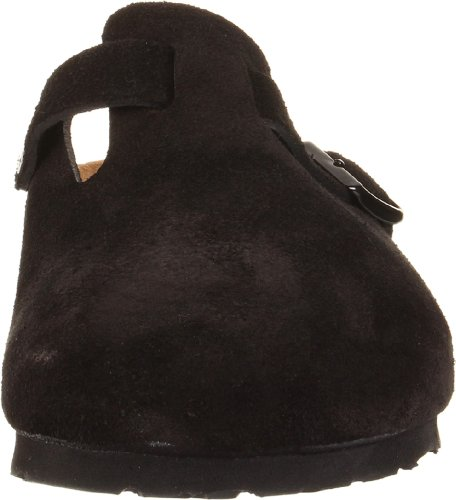 pictures of Birkenstock Boston Soft Footbed Clog,Black Suede,39 M EU