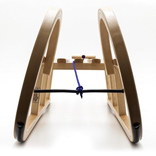 HolzFee Colint Baran 120 SL Hörnerrodel mit Schlittenlehne Hörnerschlitten Holzschlitten Schlitten -