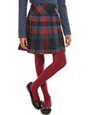 Autograph Checked Pleated Skirt