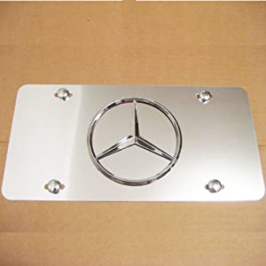 Mercedes benz large star logo aluminum semi for Mercedes benz license plate logo