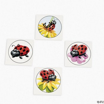 Add these lovely ladybug tattoos to goody bags or gift them as party favors