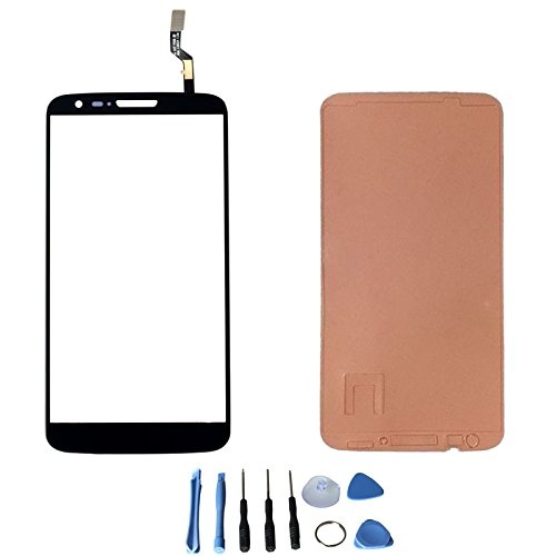 Touch Screen Glass Digitizer For Lg G2 D800 D801 D803 Ls980 Vs980 With Free Tools (Not Include Lcd) (Black + Adhesive)