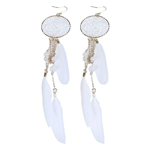 2016-new-hot-bohemia-feather-beads-long-design-dream-catcher-earrings-for-women-jewelry-white