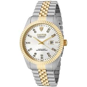 Men's Croton Round Watch Dial color: Silver