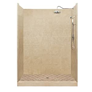 Premium Single Threshold Shower Base and Shower Wall Size