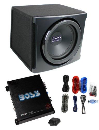 "Polk Audio Dxi112 12"" 720W Car Subwoofer+Sub Box Enclosure+Amplifier+Amp Kit"