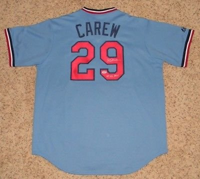 Rod Carew Autographed Signed Minnesota Twins #29 Cooperstown Jersey (authenticated by PSA/DNA)