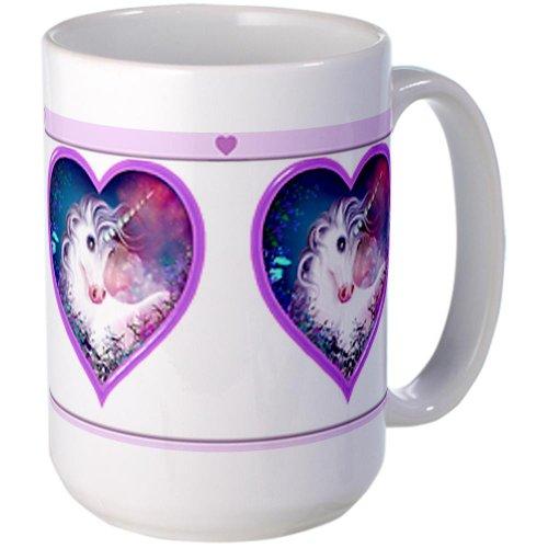 Cafepress Unicorn Heart Large Mug Large Mug - Standard