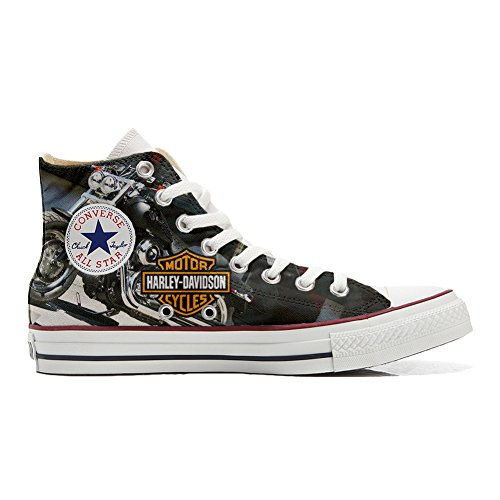 Converse All Star scarpe personalizzate (scarpe artigianali) motor cycles size 38 EU