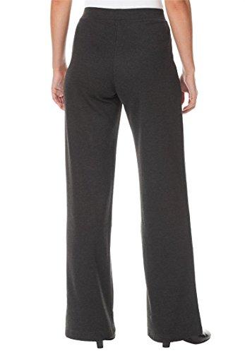 Womens Plus Size Wide Leg Ponte Knit Pant