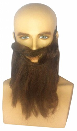 Costume Adventure Adult's Simple Brown Costume Beard With Elastic Band