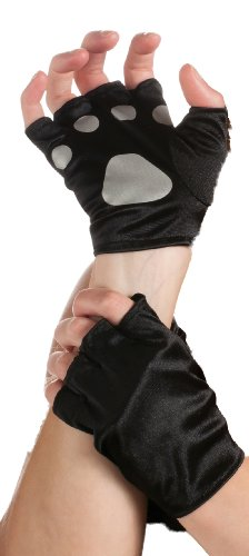 Cat Paws Fingerless Gloves