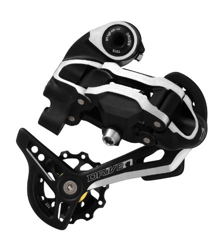 Driven Rdmx7 9-Speed Medium Cage Bike Derailleur With Bolt, Black/Silver