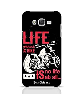 Samsung Unique Cases Life without a Bike is No Life At All for J5 Multicolor