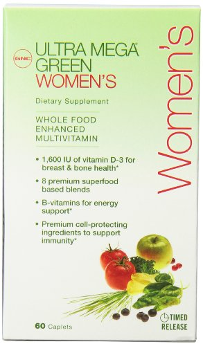Gnc Ultra Mega Green Womens Health Multi Tablets, 60 Count