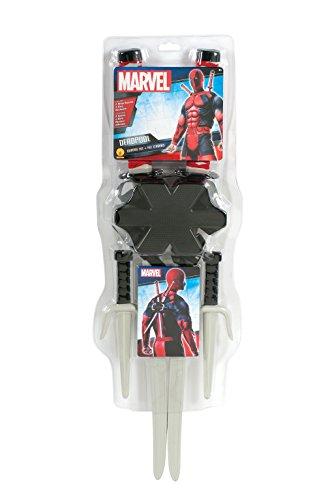 Kit spade deadpool originali marvel comprende fondina e due spade lughezza cm 60