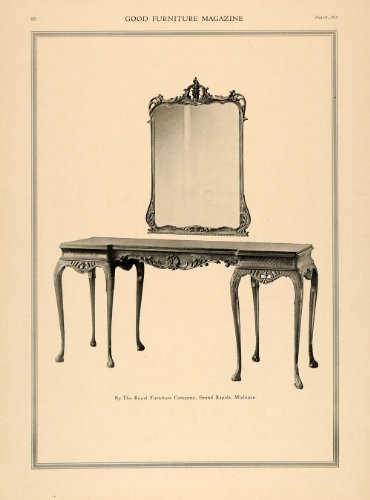 Vintage Dressing Table With Mirror front-178851