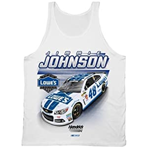Jimmie Johnson #48 NASCAR Race Tank Top-White by NASCAR