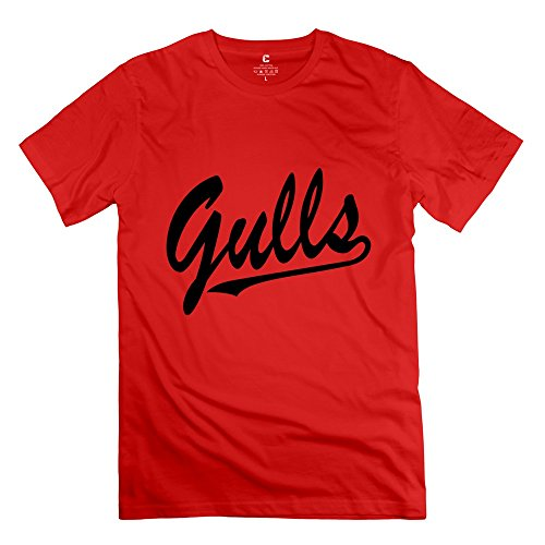 Juj-M Tee Men¡®S Gulls Tshirts/Medium Red